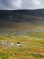 Red dot (dration) Tags: kungsleden lapland sweden landscape clouds mountain