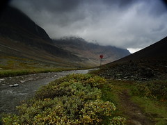 Path in clouds (dration) Tags: kungsleden lapland sweden landscape clouds mountain