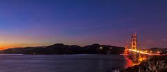 Good night... (j1985w) Tags: california sanfrancisco sanfranciscobay bay ocean hills bridge goldengatebridge rocks longexposure water waves