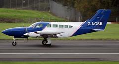 G-NOSE (PrestwickAirportPhotography) Tags: egpk prestwick airport cessena 402 gnose