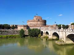 Roma / Castel Sant'Angelo (Pantchoa) Tags: chateausaintange pont eau architecture italie rome lazio reflection reflets arches antiquité ciel bleu