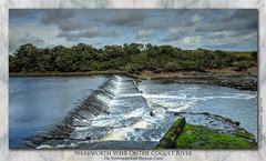 Warkworth Weir on the Coquet River, Northumberland (setsuyostar) Tags: coquetriver northumberland weir waterfall summer2019 august2019 thenortheast samsunggalaxys7 topazstudio kenhawley