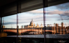 The reflections of St Paul (Through_Urizen) Tags: architecture category england external places canon1585mm canon canon70d thames stpaulscathedral dome bridge cityscape city river greatbritain london uk unitedkingdom reflections windows