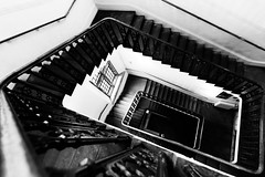 Kings Steps (Sean Batten) Tags: london england unitedkingdom spiral staircase blackandwhite bw nikon d800 1424 steps kingscollege themaughanlibrary openhouse