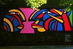 Dialogue Mono GONZALEZ (Edgard.V) Tags: paris parigi street art urban urbano arte callejero mural graffiti graff alejandro gonzalez chili chile mur portraits couleurs cores colours colori