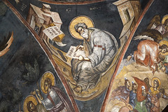 Saint Matthew the Evangelist (zavar_vera) Tags: northmacedonia ohrid church peribleptos 13thcentury fresco mural michaelandeutychios