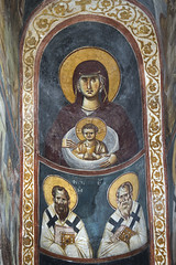 Frescoes of the apse of the prothesis (zavar_vera) Tags: northmacedonia ohrid church peribleptos 13thcentury fresco mural michaelandeutychios