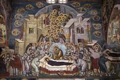 Dormition (zavar_vera) Tags: northmacedonia ohrid church peribleptos 13thcentury fresco mural michaelandeutychios