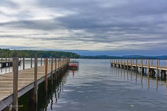 Wolfeboro Bay (RayTheriault) Tags: water waterfront wideangle 1635mm 50 60 70 wolfeboro winnipesaukee nikon nikond810 nature newhampshire boats dock clouds