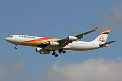 A340 (OO-ABA) Air Belgium (boeing-boy) Tags: mikeling boeingboy airbelgium a340 heathrow ooaba