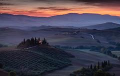 Podere Belvedere (selvagedavid38) Tags: tuscany italy tuscano italia dawn farmhouse sunrise olives olivegrove sanquiricodorcia valedorcia autumn hills trees landscape