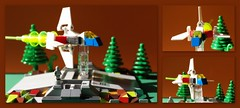 LEGO Star Fighter . (peter-ray) Tags: space ship star battleship fighter lego micro scale moc brick peter ray