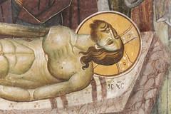 Lamentation of Christ. Detail. (zavar_vera) Tags: northmacedonia ohrid church peribleptos 13thcentury fresco mural michaelandeutychios