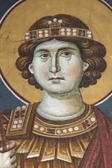 Saint George (zavar_vera) Tags: northmacedonia ohrid church peribleptos 13thcentury fresco mural michaelandeutychios