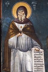 Saint Anthony the Great (zavar_vera) Tags: northmacedonia ohrid church peribleptos 13thcentury fresco mural michaelandeutychios