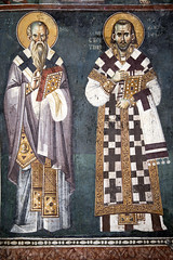 Saints Clement of Ohrid and Constantine Kavassilas (zavar_vera) Tags: northmacedonia ohrid church peribleptos 13thcentury fresco mural michaelandeutychios