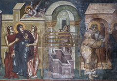 Annunciation at the well (zavar_vera) Tags: northmacedonia ohrid church peribleptos 13thcentury fresco mural michaelandeutychios