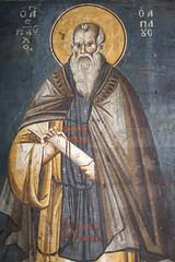 Saint Paul the Simple (zavar_vera) Tags: northmacedonia ohrid church peribleptos 13thcentury fresco mural michaelandeutychios