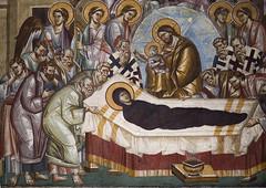 Dormition. Detail. (zavar_vera) Tags: northmacedonia ohrid church peribleptos 13thcentury fresco mural michaelandeutychios