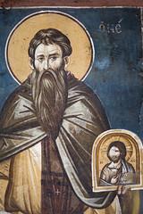 Saint Stephen the Younger (zavar_vera) Tags: northmacedonia ohrid church peribleptos 13thcentury fresco mural michaelandeutychios