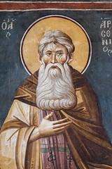 Saint Arsenius the Great (zavar_vera) Tags: northmacedonia ohrid church peribleptos 13thcentury fresco mural michaelandeutychios