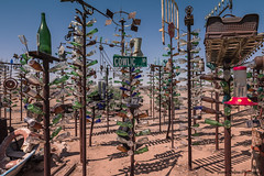Bottle Trees (Yvonne Oelsner Photography) Tags: elmer´sbottletreeranch route66 roadtrip unique crazy art sculptures bottles desert rust color
