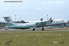 Wideroe LN-WDL Dehavilland Canada Dash 8 Departing London Stansted Airport 6 Sept 2019
