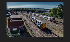 Freight traction at Masbrough Station including blue DRS 20s move from Crewe to York - 4065/073 (Views in Camera) Tags: masbroughstation oldroad northmidlandrailway greatbritainrailfreight gbrf class66 shed 66751 inspirationdeliveredhitachiraileurope 4z81 masbroughnwterminaltofelixstowenorth dbc dbshenkercargo 66109 teesportexpress pdports 66030 ewslivery colasrail class60 60002 tempest 0f54 belmontdownyardtototontmd drs directrailservices class20 20303 maxjoule19581999 20302 0z20 crewegrestybridgetoyorkparcelssidings northernrail class170 turbostar 170457 1w45 sheffieldtobridlington crosscountrytrains class221 voyager 1v56 glasgowcentraltoplymouth signals0423 signals0425 signals0415 signals0421 signals0406 templeboroughbiomass nw newellandwrightcontainerservices holmeswestsidings midlandironworks masbroughgoodsloop masbroughstationsouthjunction coronationbridge