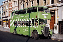 Clarnico Sweets . London . GMR893 . Stratford Broadway , East London . June-1969 . (AndrewHA's) Tags: bus london transport staff sweets clarnico k bristol ecw white green cream mint gmr893 hand dorset second salisbury wilts 314