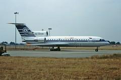 RA-42428 Yak 42 Sunjet (Polet Flight) CVT June 1995 (cvtperson) Tags: ra42428 yak 42 sunjet polet flight coventry airport cvt egbe