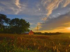 Daybreak (wdterp) Tags: farm morning sunrise barn dawn iowa cloudsstormssunsetssunrises