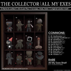 22769 - The Collector : All My Exes for The Arcade October : 2019 (manuel ormidale) Tags: guy diy heartbreaker tennageheratthob alwayssmile birthdaygy insta onenighter one night hangman blueeyes supersmart voodoo collector collections indoor decoration puppets doll 22769 22769bauwerk bauwerk arcade thearcade pacopoolely