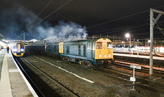 20107 and 20096 on the move at Crewe (robmcrorie) Tags: 6z38 20107 20096 crewe longport pinnox branch esso sidings night departure nikon d850 dcr class 20