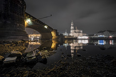 Dresden - Augustus Bridge (Rafael Zenon Wagner) Tags: bridge brücke nacht night dresden deutschland germany spiegelung reflection nikon d810 laowa12mmf28zerod 12mm