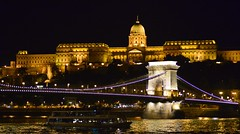 Budapest - Chain Bridge and Buda Castle (cnmark) Tags: hungary budapest danube river donau chain bridge buda castle széchenyilánchíd budaváripalota burgpalast night light nacht nachtaufnahme noche nuit notte noite ©allrightsreserved