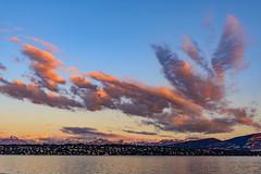 Spontaneous clouds (FVillalpando) Tags: clouds skylakewaterlandscapengysa pink light alps geneva