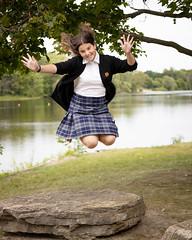 Jumping for Joy (Anvilcloud) Tags: people dani grandkids danica backtoschool riversidepark