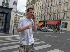 CityJob.jpg (Klaus Ressmann) Tags: klaus ressmann omd em1 fparis france peoplestreet summer candid flcpeop man phone streetphotography unposed workman klausressmann omdem1