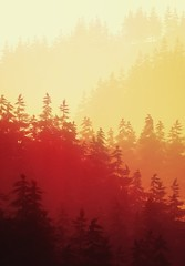 Fiery Forest (Stachmoon) Tags: fiery forest firewatch shades layers screenshot digital art reshade hunting god video game