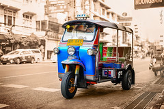 Bangkok Tuk Tuk - Ben Heine Photography (Ben Heine) Tags: tuk color asia street retro thai speed destination traffic cab freelance road transportation architecture business temple thailand asian development yellow car traditional finance drive city rickshaw symbol vintage taxi vehicle town thaiculture culture ride blue urban bangkok tuktuk travel colorful night chinatown tourist green work tourism thaistreet transport