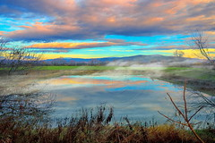 Εξαΰλωση Dematerialization (Dimitil) Tags: clouds cloudysky colors country countrylive countryside countryard county d4 dramaticsky environs fog greece hellas liquidmirror mirror mist misty morning nature nikond4 plain plane reflections thessalicplain thessaly trikala water