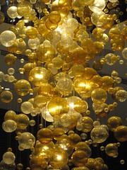 Golden Glass Baubles - Melbourne Crown Casino Precinct (raaen99) Tags: gold golden goldenglassbauble glass bauble glassbauble chandelier light lightfixture illumination graff graffjewellers graffjewelers jewellers jewelers jewelrystore jewellerystore display bubble goldenbubble freestyleonthefifth fotf fff flickrfamousfive casino melbourne victoria australia shopping crowncasino lamp shopwindow windowdisplay merchandising