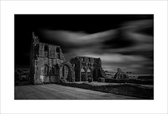 Dundrennan Abbey (tkimages2011) Tags: dundrennan abbey decay monument scotland cistercian monastery romanesque transepts mono monochrome outside outdoor maryqueenofscots ruin sandstone architecture contemporary moody dramatic dark sombre