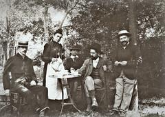 au jardin à la Belle Epoque, vers 1900... Reynald ARTAUD (Reynald ARTAUD) Tags: 1900 années france belle époque jardin collection reynald artaud