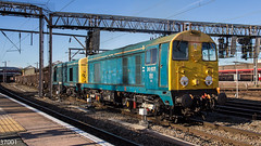 20107 & 20096 on 6Z36 departing Crewe (37001) Tags: 20107 20096 6z36 6z35 longport crewe basfordhall pinnox kea jna