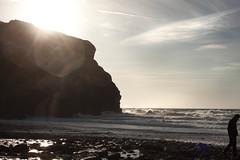 Porthtowan Beach, Cornwall - the South West (Greta Powell) Tags: beaches englishbeaches porthtowan porthtowanbeach sun light sea waves alone ukbeaches traveluk cornwall sunshine seaside individuals solopeople water holidays ukholidays travel travelphotography