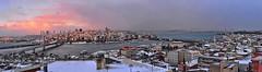 Winter panorama/ Istanbul (meren34) Tags: winter panorama istanbul city turkiye bridge goldenhorn evening builsing bosphorus history snow clouds
