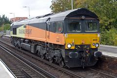 Class 66 - 66849 (Signal Box - Railway photography) Tags: outdoor uk railway railroad mainline freight train locomotive class66 colas rail railfreight basingstoke station hampshire diesel electric