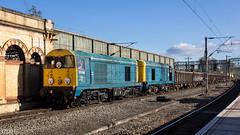 20096 & 20107 on 6Z36 at Crewe (37001) Tags: 20107 20096 6z36 6z35 longport crewe basfordhall pinnox kea jna