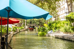 San Antonio Riverwalk (aaronrhawkins) Tags: sanantonio riverwalk umbrella river boat float water city building restaurant scenic tourist visit famous texas fall aaronhawkins
